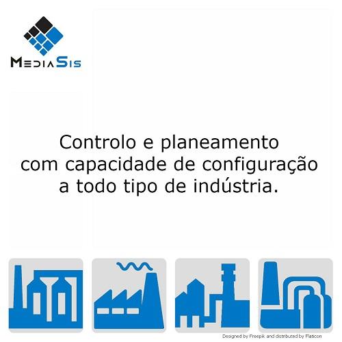 Controlo e planeamento com capacidade de configuração a todo tipo de indústria.